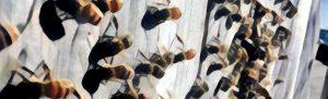 Fanning honey bee painting